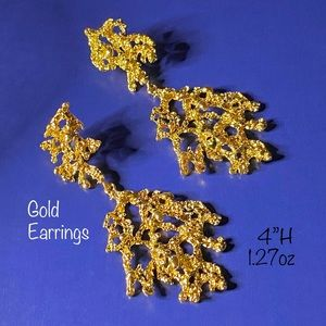 """New earrings """"Gobs of Gold Drippings"""""""